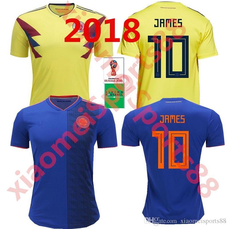 2019 2018 World Cup Men S Soccer Football Jersey Columbia 10 JAMES 9 FALCAO  11 CUADRADO National Team Home Away Football Jerseys From Xiaomeisports88 b0a9ad582