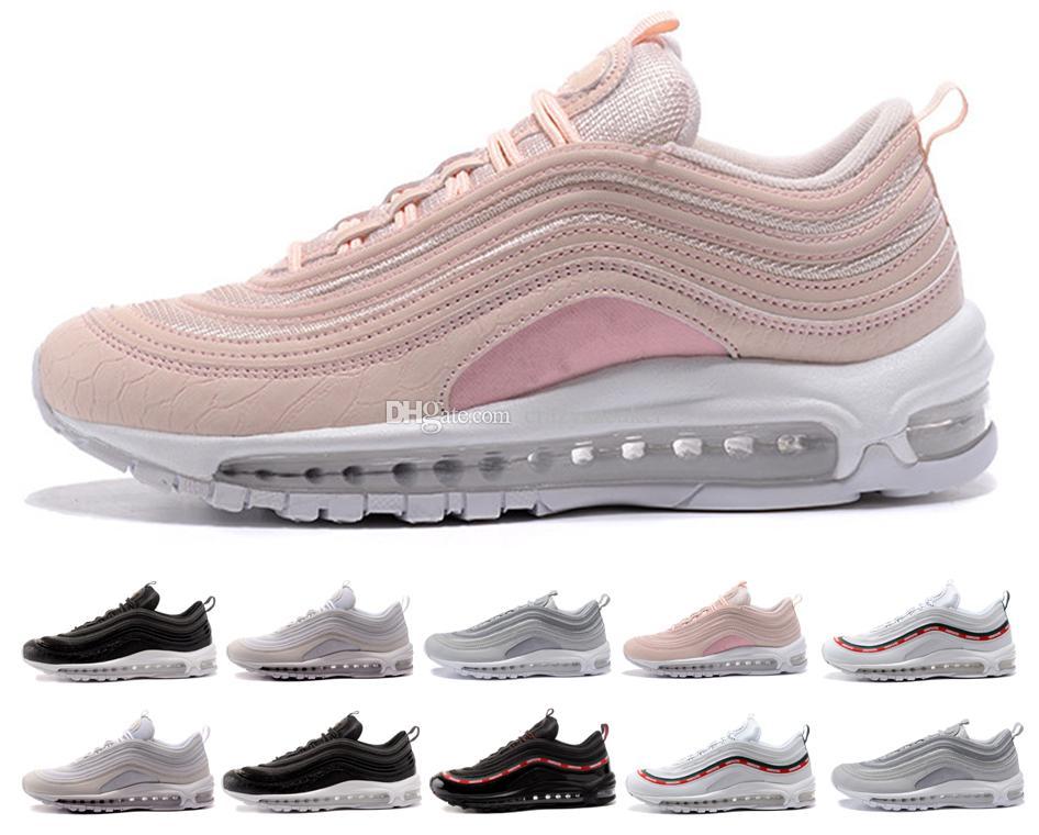 61259f4874 Compre Nike Air Max 97 Vapormax Shoes S Tênis De Corrida South Beach Japão  Bala De Prata Invicto Pacote Triplo Preto Branco Rosa Mens Mulheres  Formadores ...