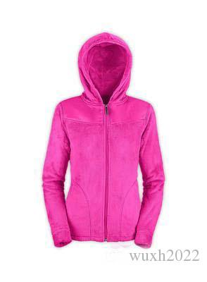 2018 New Winter Womens Soft Fleece Hoodies Jackets Fashion Casual Warm Ladies Bomber Jacket Fashion High Quality Hooded Sweater Coat Pink