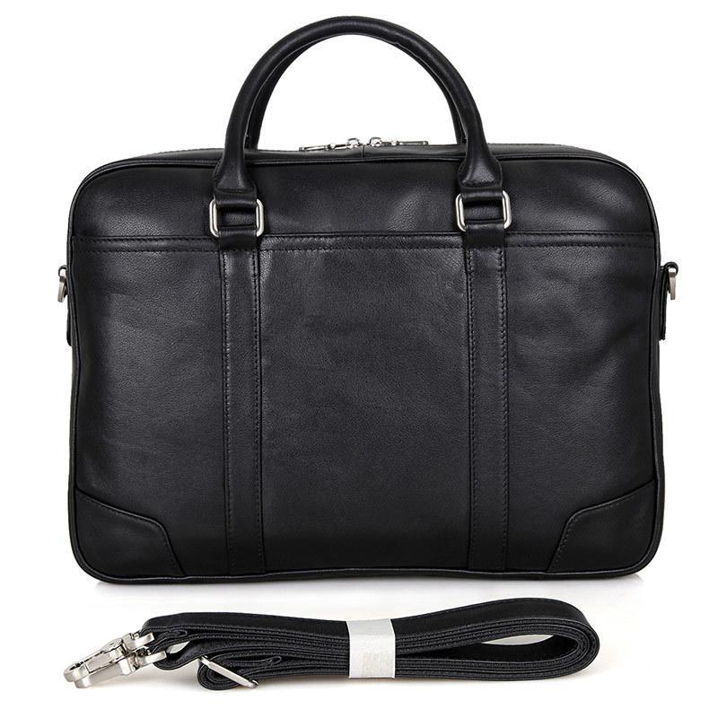Einfache Umhängetasche Handtasche Business Männer Aktentasche Taschen Luxus Leder Laptop-Tasche Mann Umhängetasche Portfolio