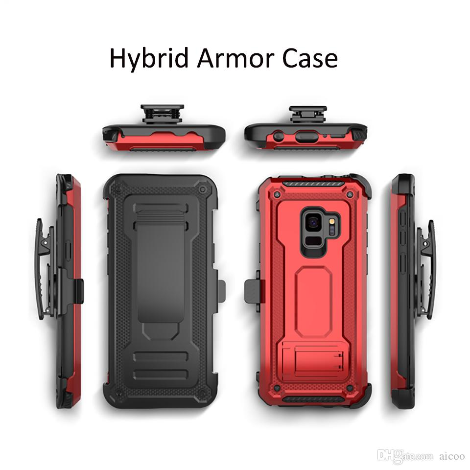 brand new 05f19 64a4b Defender Hybrid Armor Case With Belt Clip Holder Shockproof Cover for  iPhone XR XS MAX X 8 7 Pus Samsung S10 S9 S8 Note 9 A8 A6 2018 OPP