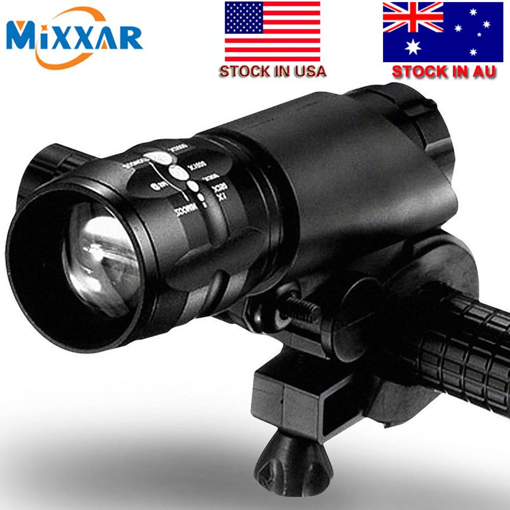 Stock In USA Mini 3 Modes Q5 2300LM LED Flashlight Lamp Front Torch Waterproof Bicycle Light Bike Light Lamp with Torch Holder