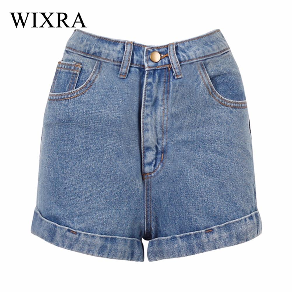 ef99aade6dd9 2019 Wixra Basic Denim Shorts For Women 2018 Summer New Branded Trendy Slim  Plus Size Short Pants High Waist Casual Jeans Shorts S916 From Ruiqi01