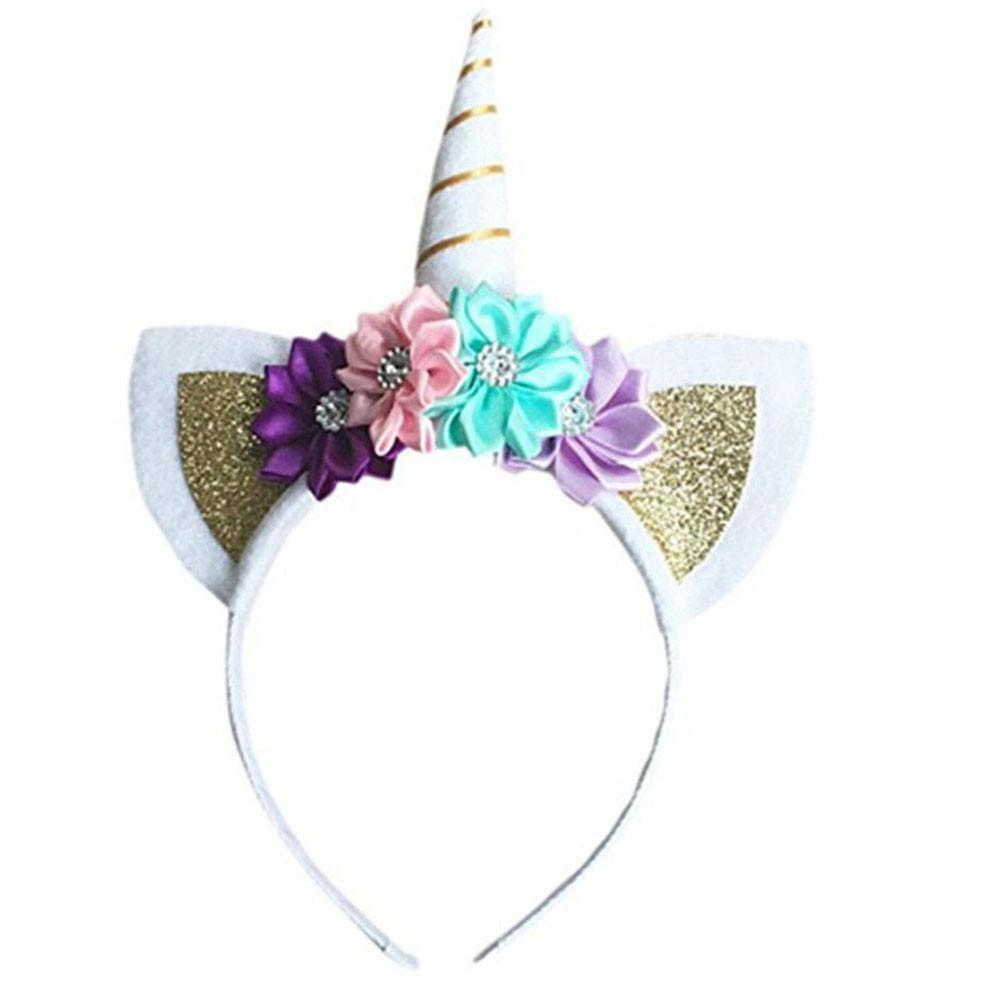 unicorn horn flowers cat ears hairband hair head hoop bands gifts  accessories for girls children party headdress decorations new