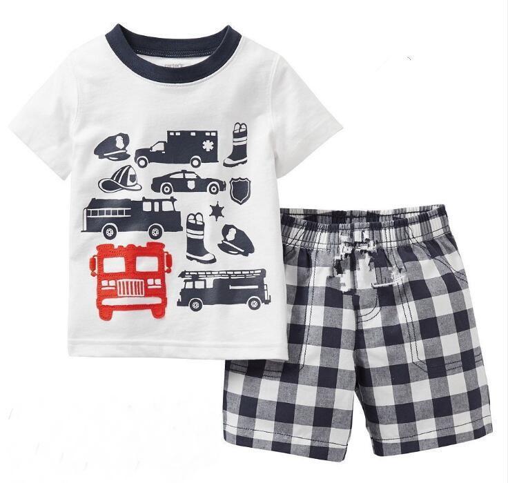 d4206886b 2018 Hot Sell Children Cartoon Pajamas Sets Girls Summer Pyjamas Kids Short  Sleeve Homewear Baby Girl Sleepwear Pajama MUT81 Boys Pajama Cotton Pajamas  Kids ...