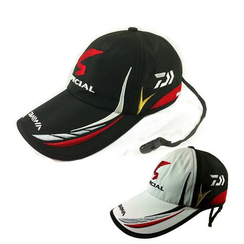 bfe60319f3281 Online Cheap Adult Men Adjustable Breathable Fishing Daiwa Japan Sunshade  Sport Baseball Fishermen Hat Cap Black Special Bucket Hat With Logo By  Sport2017 ...