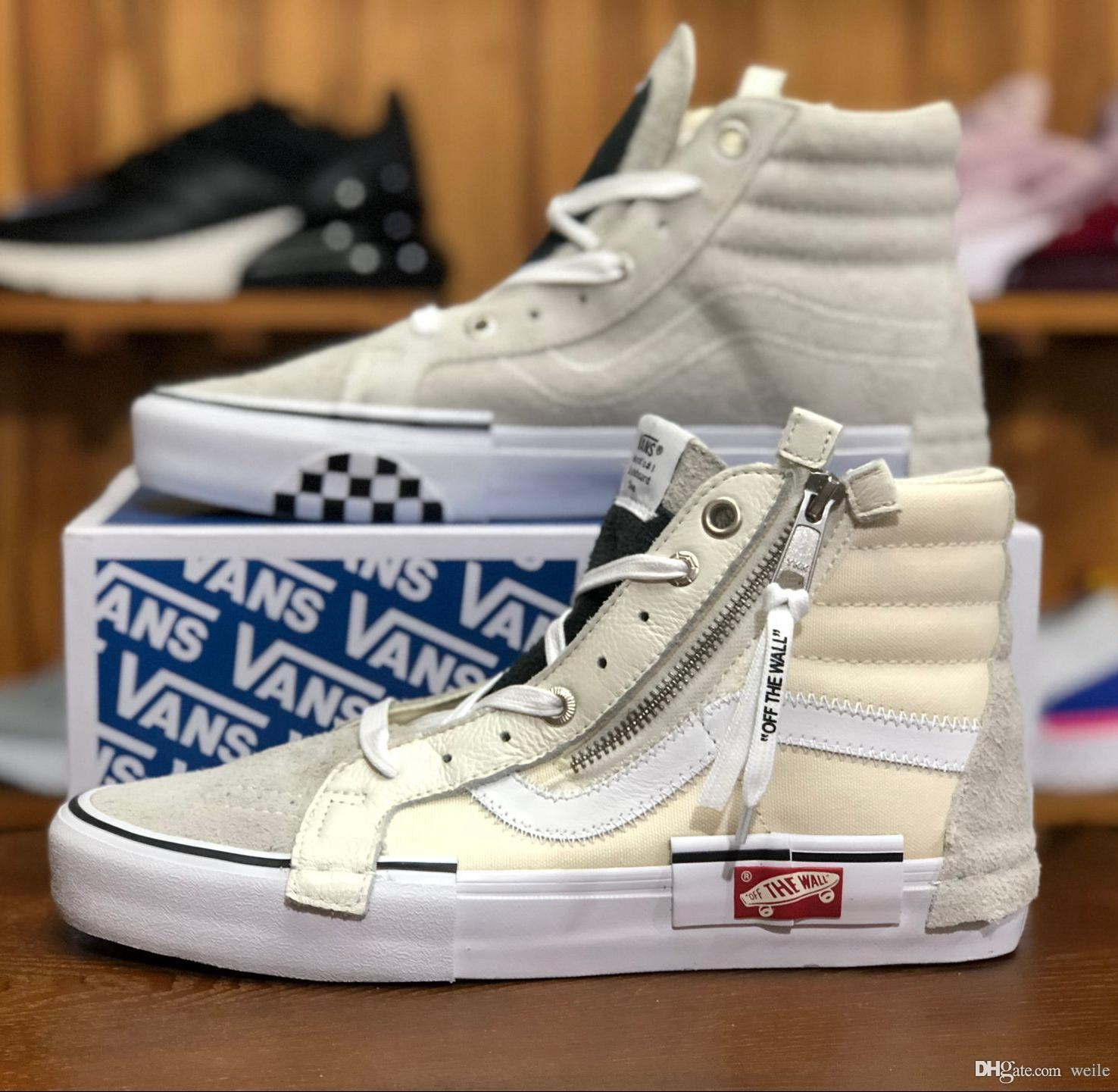VAULT OG SK8 HI SLIP ON CAP LX Women Men Old Skool Casual Shoes Designer  Canvas Zapatillas De Deporte High Top Sport Sneakers UK 2019 From Weile a1c9b0704