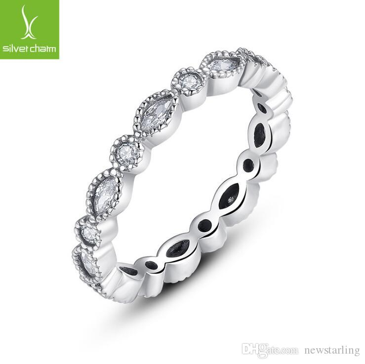 2019 New Concise Fashion Jewelry Ring Retro Compatible With Pandora