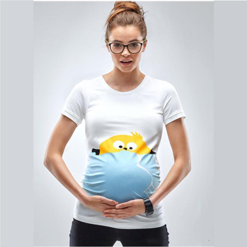 Acquista T Shirt Funny Chick Broken Shell Le Donne Incinte Summer Top Manica  Corta Gravidanza Tees Maternity T Shirts Taglie Forti A  29.98 Dal Runbaby  ... e023da8af70