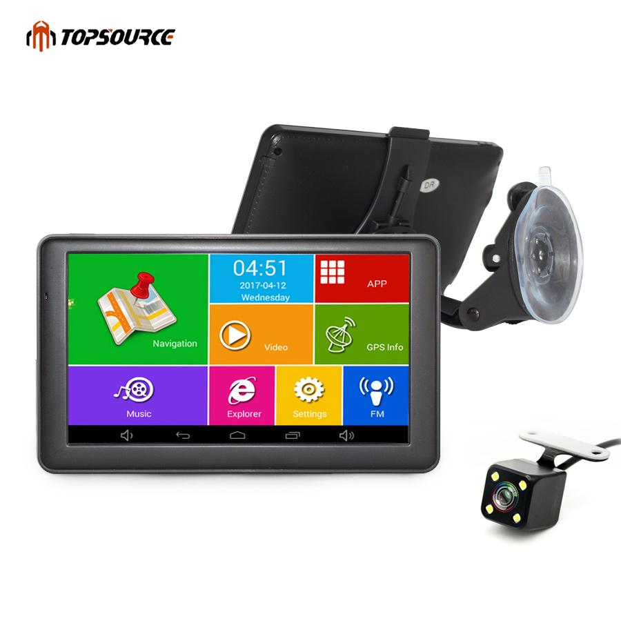 2019 TOPSOURCE Android Car GPS Navigation WIFI Bluetooth FM ... on