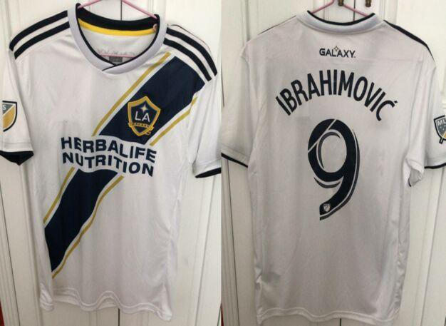 detailed look b2e97 496a3 Thai Camisetas de futbol 2018 2019 LA Galaxy Zlatan Soccer jerseys XL usa  size Maillot de Foot mls patch Ibrahimovic Los Angeles Shirts