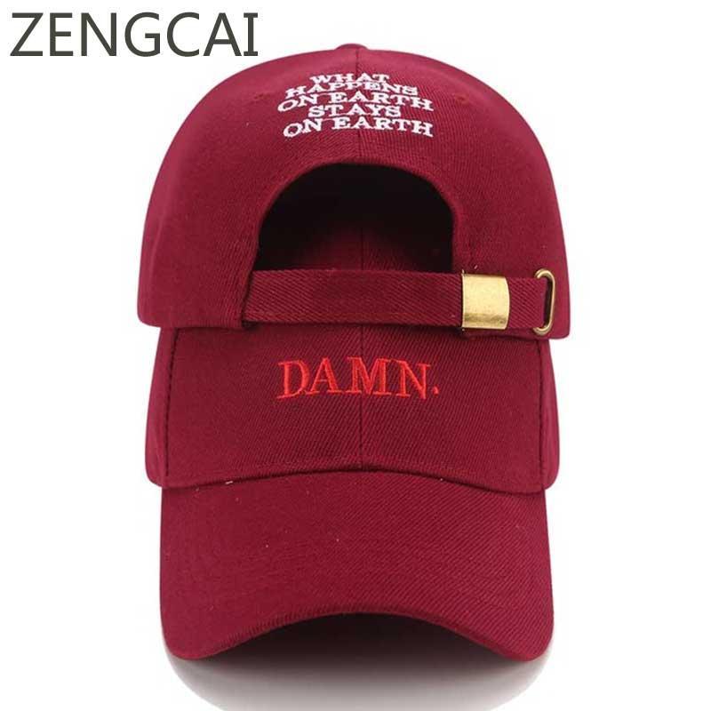 da01bb32f36 Snapback Baseball Cap Kendrick Lamar Dad Hat Men DAMN Rapper Hip Hop ...