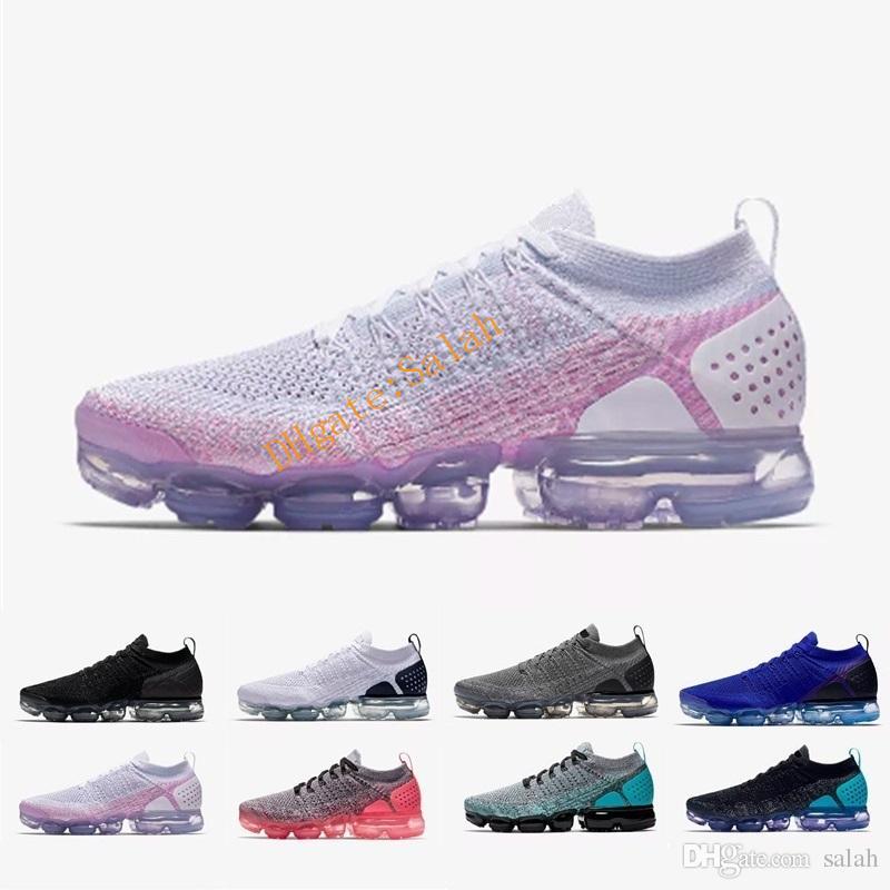 huge discount faa55 1ef71 Compre Nike Vapormax Air Max Hombre Zapatos Casuales 2.0 Flagship Shoes  Mujeres Nuevas Blanco Negro Gris Azul Rosa Zapatillas De Deporte Zapatillas  De ...