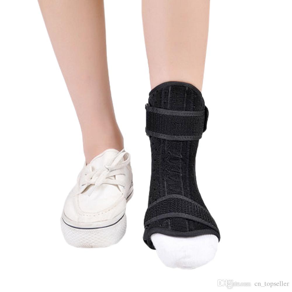 دعم الكاحل قابل للتعديل قطرة القدم درع القدم قطرة تقويم العظام مصحح الإلتواء الكاحل حجم الحرة