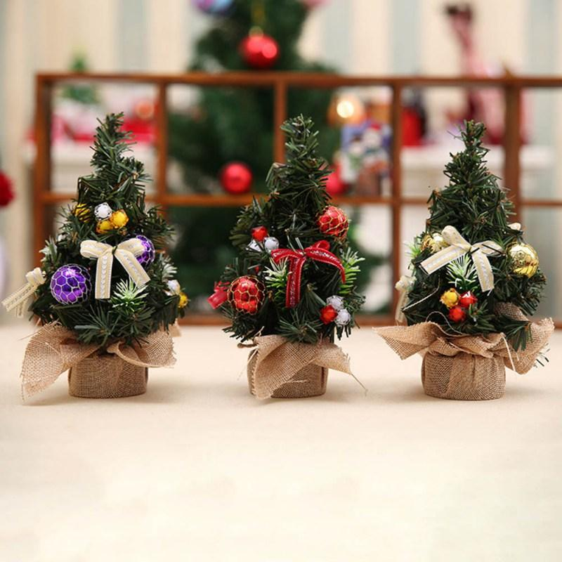 2017 Christmas Tree 20 CM Mini Decoration Trees Ball Table Home Decor For Xmas Gift Unique Decorating Themes
