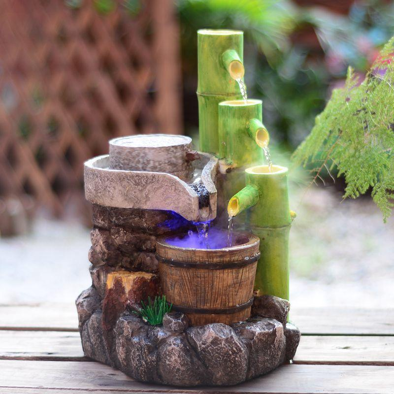 2018 Resin Crafts Feng Shui Water Fountain Home Decoration Garden Ornaments  Holiday Gifts Artificial Stone Bamboo Fountain From Liuliu811, $479.2 |  Dhgate.