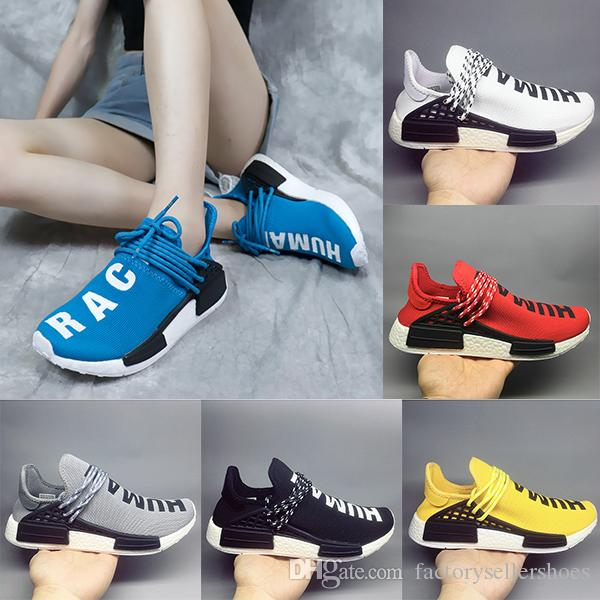 "2018 Cheap Wholesale NMD ""HUMAN RACE"" Pharrell Williams x 2019 Men's & Women's Discount Cheap Fashion Sport Shoes Without Box eur 36-47"