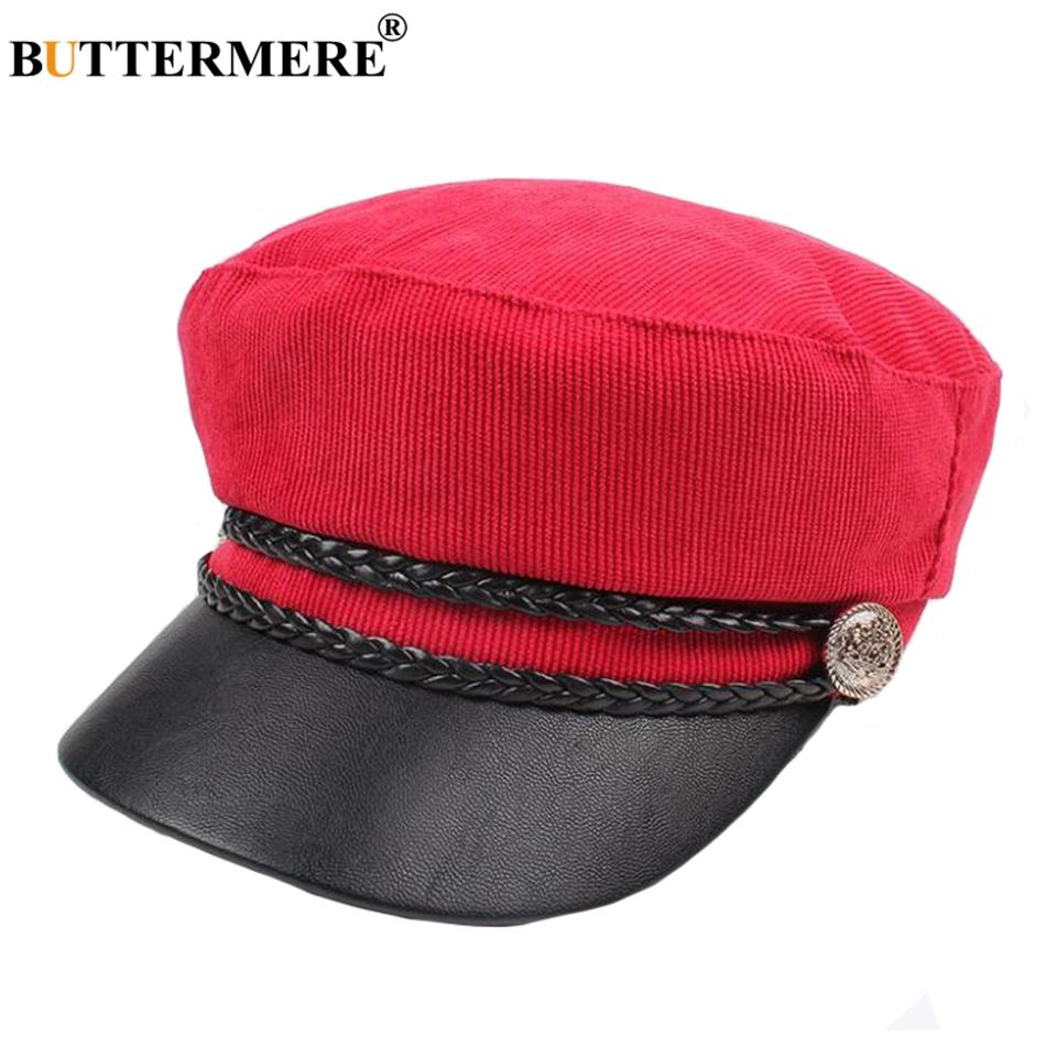 1f762e21018 2019 BUTTERMERE Newsboy Caps Women Corduroy Red Flat Caps Ladies Elegant Baker  Boy Cap Duckbill Autumn Classic Female Painters Hat From Shukui