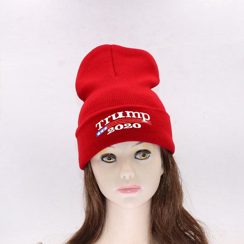 2019 2020 Donald Trump Red Beanies Skullies Hat Re Election Keep America  Great Embroidery USA Flag MAGA New Cap Cotton Winter Hat From  Dhgate stores ebf107a6980