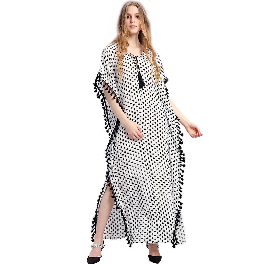 ac0a81b83a Women African Ethnic Print Kaftan Maxi Dress 2018 Summer Loose Vintage Boho  Beach Long Dress Tunic Cover Ups Women Summer African White Prom Dress Girl  ...