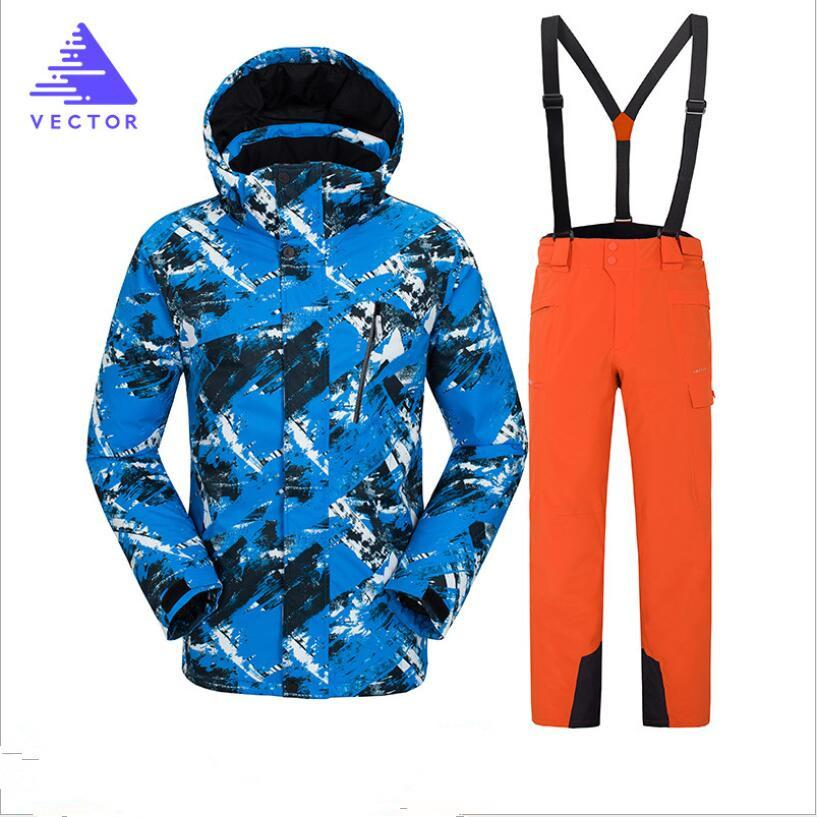 3afcc53fe2 2019 Men Ski Jacket Pant Windproof Waterproof Winter Clothing Skiing  Snowboard Suit Thermal Outdoor Sport Wear Riding Male Coat Pants From  Longanguo
