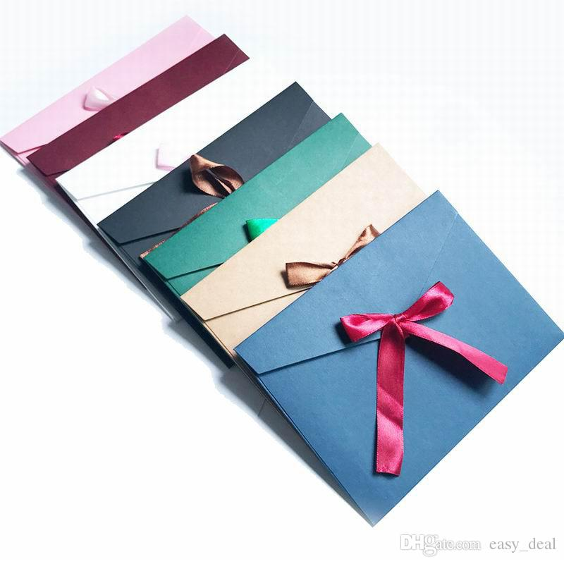 Vintage Ribbon Envelope Greeting Card Envelops For Wedding