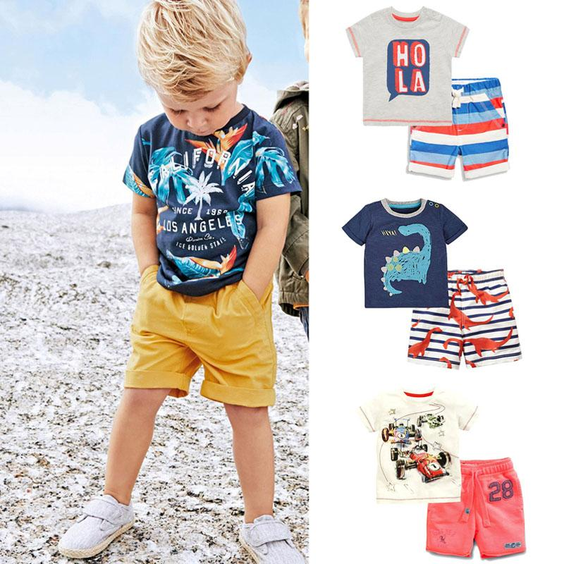 0ed40d24d 2019 New 2018 Brand 100% Cotton Summer Baby Boys Clothes Set ...