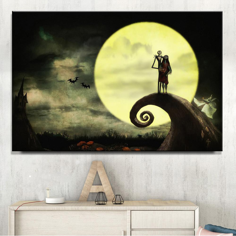 Canvas Modern HD Print Moon Pictures Wall Art Home Decor Nightmare ...