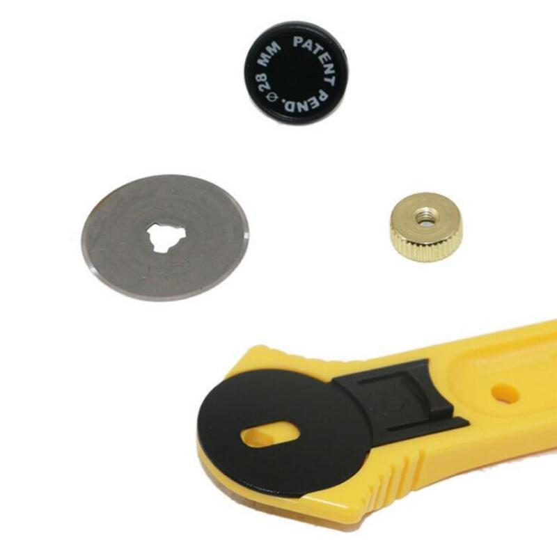 28 мм ролик резак лоскутное лоскутное шитье лоскутное ткань резки ремесло инструмент - тип безопасности роторный резак круговой нож