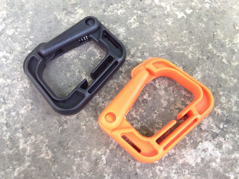 EDC Molle Carabiner D Locking Ring - Plastic Clip Hook Snap Type Ring Buckle Tactical Carabiner Keychain Fastener Hook Travel Kits