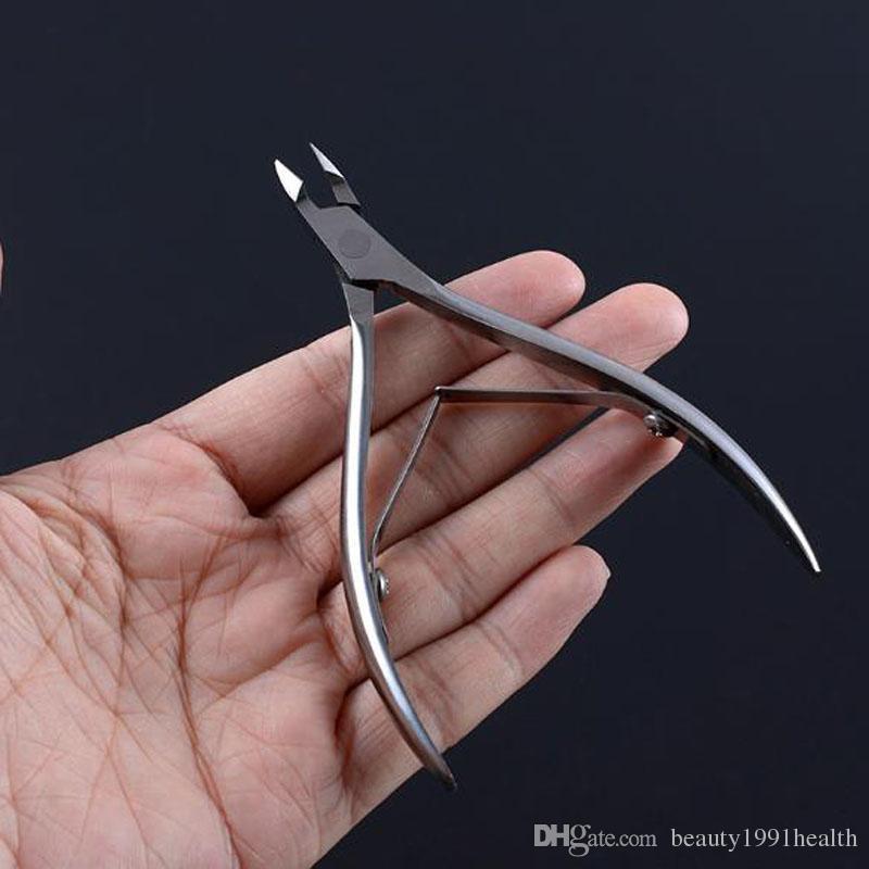 الجمال الجديدة إهاب مقص الفولاذ المقاوم للصدأ تو البشرة القراص المتقلب القاطع مسمار الفن المقص مانيكير باديكير سكين