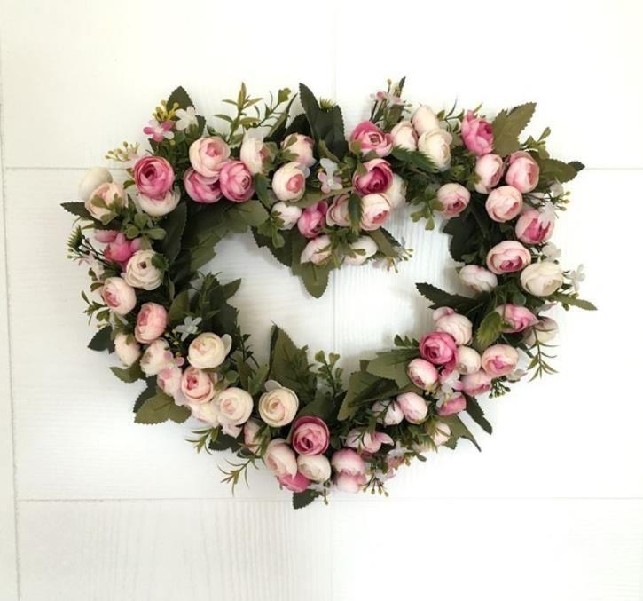 Grosshandel Blumenturkranz Fruhling Herz Formige Liebe Blume Hochzeit