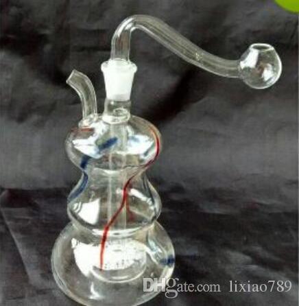 couleur du narguilé de verre de noyau de sable, bonne filtration, envoyer des accessoires, livraison aléatoire de style, gros narguilé en verre, bongs en verre