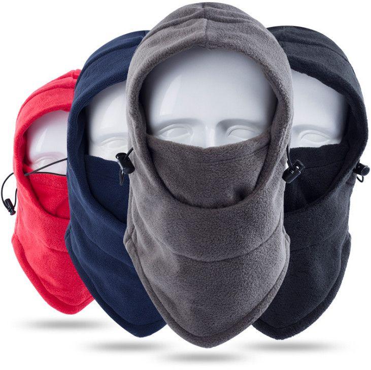 a0e1b9bb386 2019 Balaclava Fleece Hood Windproof Ski Mask Cold Weather Winter  Motorcycle