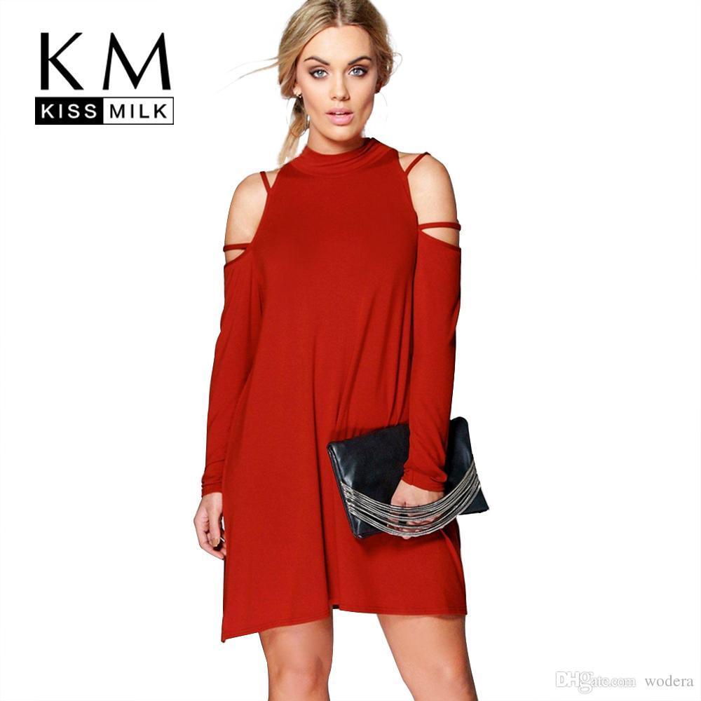 3a1421b6d22 Wholesale- Kissmilk Plus Size New Fashion Women Clothing Casual ...