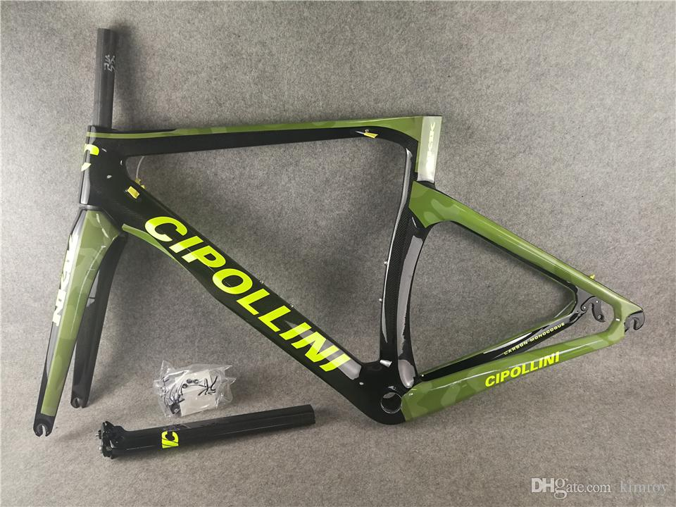 1K/3K Carbon Cipollini NK1K Frame Camouflage Green Carbon ROAD Bike/Bicycle Frameset Fork+ Seatpost+ Clamp+ Headset