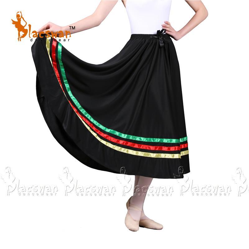 low priced 570fc dd123 Gonne da ballo per adulti Personaggi Gonne a 3 colori Nastri per bambini  per bambini Nylon Dance da ballo per insegnanti DS515