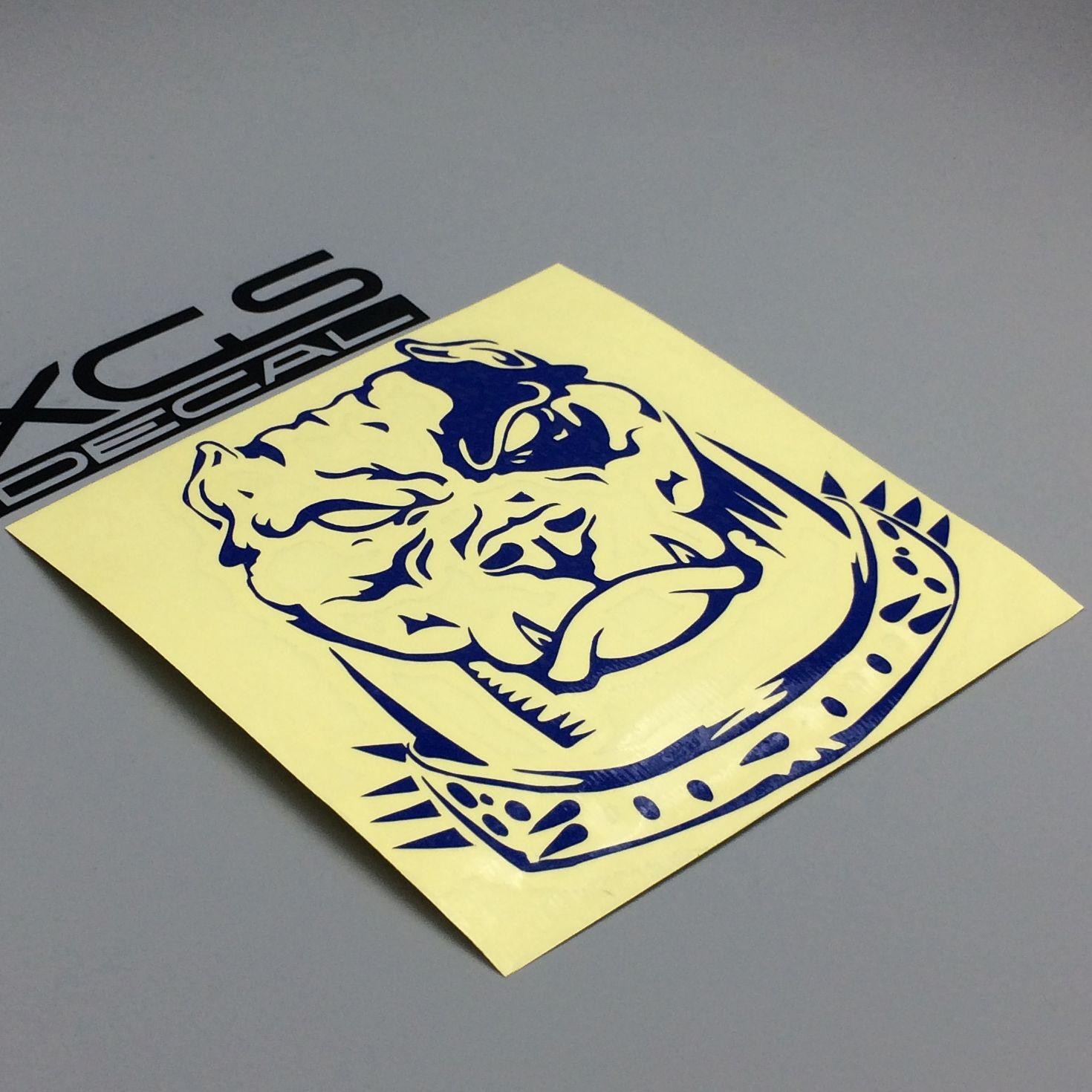 2018 Car Auto Graphic Decals Stickers Pit Bull Head Vinyl Cut ...