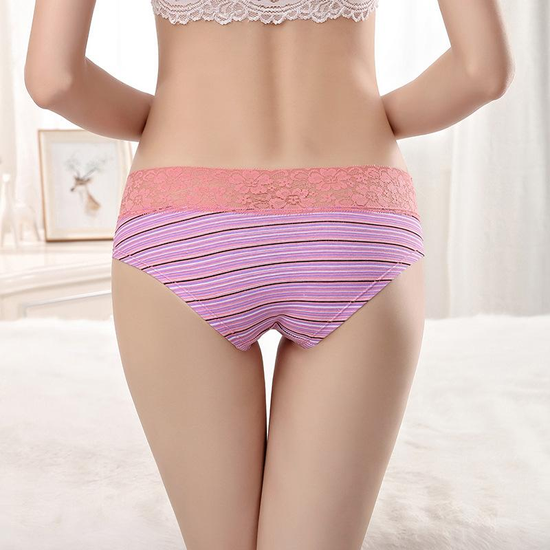 womens panties lingerie sexy lace Cotton striped low rise panties seamless panty underpants briefs underwear intimates