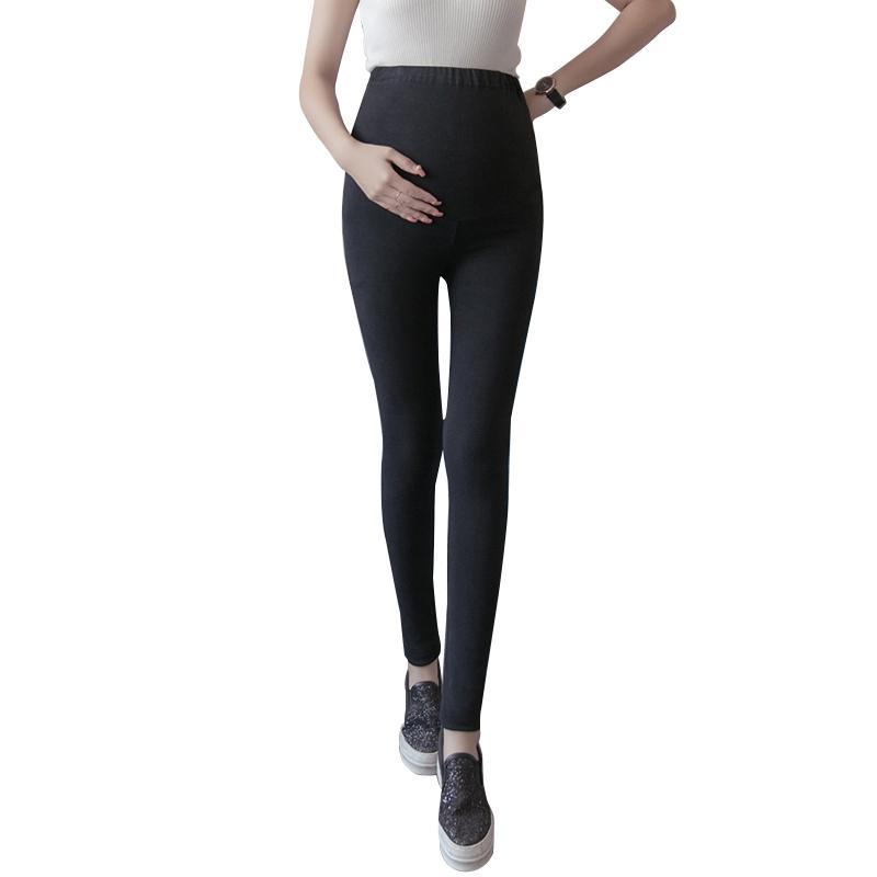 594832ac25743 2019 Maternity Leggings Pants 2018 High Waist Adjustable Belt Spring Autumn  Women Pregnancy Trousers Pregnant Leggings From Yohkoh, $21.24 | DHgate.Com