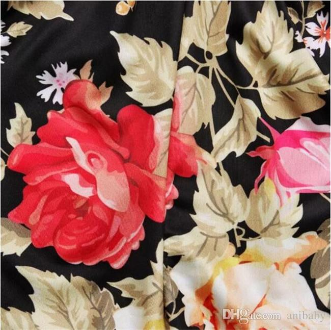 1-5T Baby Mädchen Langarm T-Shirt Outfits 2 Stück Sets braun T-Shirt + schwarz floral Bloomer Spitze Taille Shorts Sets für Kleinkinder A08