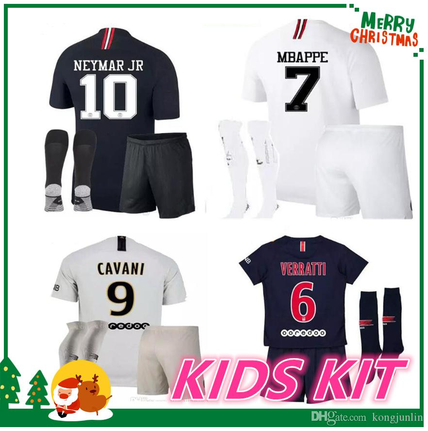 Compre 18 19 PSG Kit Infantil NEYMAR JR Camisa MBAPPE AURIER SILVA CAVANI  DI MARIA PASTORE Verratti 2018 2019 Menino Criança LUCAS Jersey De  488179aa88b1d