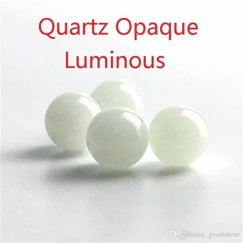Nuovo Luminoso Incandescente 6mm 8mm Quartz Perla con inserto a pallina di perle con perline in vetro rosso blu verde chiaro Terp chiodo fumante al quarzo