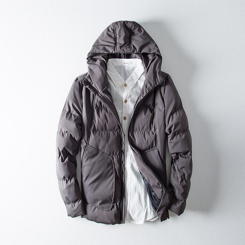 new products 61672 b6bb5 Cappotto invernale da uomo imbottito caldo con cappuccio Parka da uomo in  cotone piumino Cappotto invernale da uomo soprabito con cappuccio Plus Size  ...