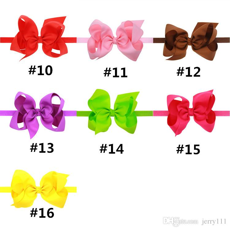 Baby Bows Headbands Kids Ribbon Elastic Headbands for Girls Children Hair Accessories Double Bowknot Hairband LC695-1