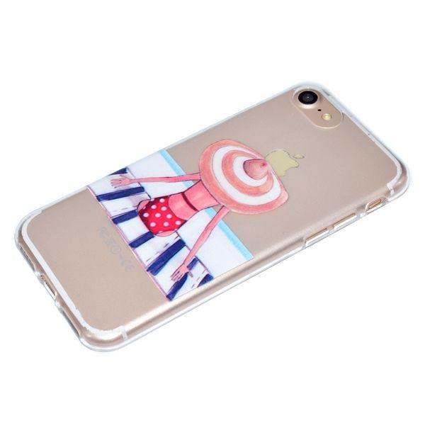 para iphone5s 6plus 7p / 8 caja del teléfono contraportada Shell Soft TPU pintura Relieve en relieve Color sólido Transparente a prueba de golpes Diseño personalizado