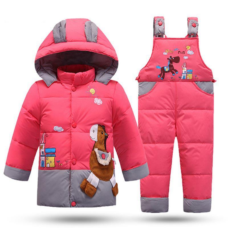 a935058d6 Winter Children S Snowsuit Boy Clothing Set Kids Down Jacket ...