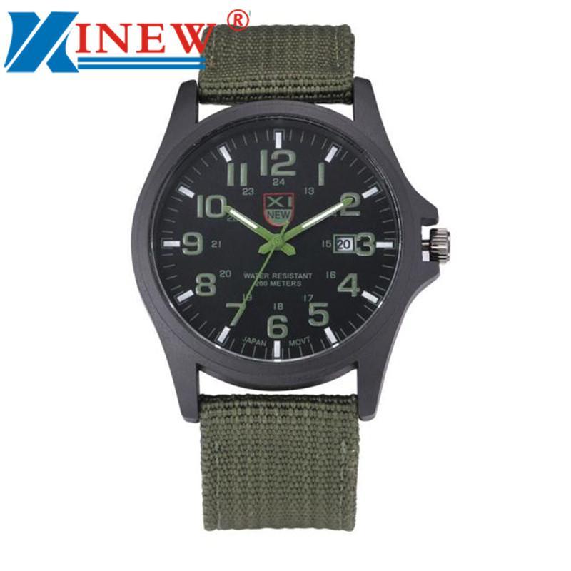 50ea2ed8b XINEW Fashion Luxury Outdoor Sports Men S Watch Calendar Date Mens Steel  Analog Quartz Watch Military Army Nylon Wrist Watches Cheap Luxury Watches  Cheap ...