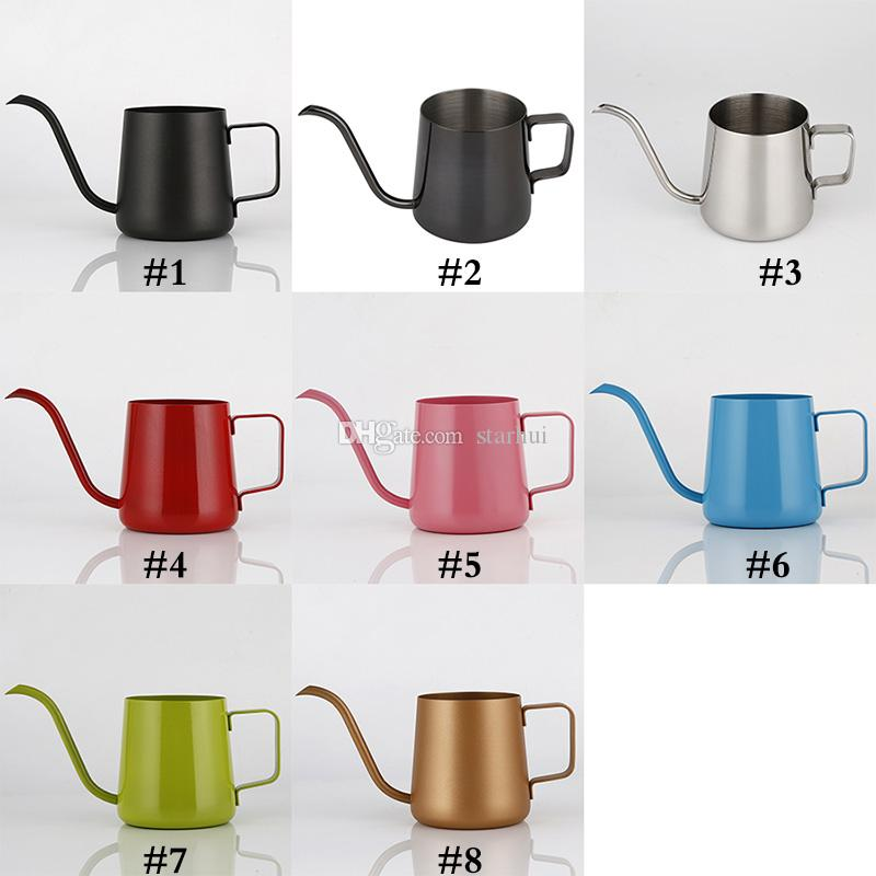 350ml Coffee Pot Stainless Steel Gooseneck Pour Over Coffee Maker Hanging Ear Drip Coffee Long Spout Pot Tea Kettle Tools WX9-350