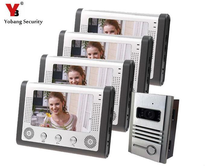 Yobang Security Apartment Intercom Entry System 7 Inch Lcd Monitor